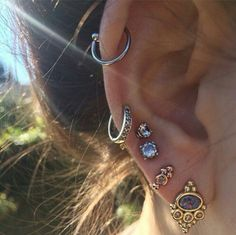 Unique Classy Multiple Ear Piercing Ideas Helix Cartilage Earrings Jewelry for T. - Unique Classy Multiple Ear Piercing Ideas Helix Cartilage Earrings Jewelry for Teens – ideas úni - Ear Jewelry, Cute Jewelry, Body Jewelry, Jewelry Accessories, Jewelry Design, Jewlery, Jewelry Gifts, Jewelry Watches, Silver Jewelry
