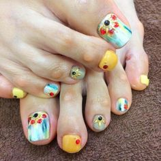 ▷ LOS MEJORES 170 DISEÑOS DE UÑAS PARA LOS PIES ⭐️ Manicure Y Pedicure, Toe Nail Designs, Toe Nail Art, Diy Nails, Fun Stuff, Pom Pom Rug, Nailed It, Pedicures, Feet Nails