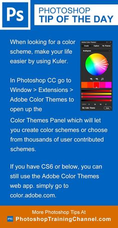 Photoshop tip of the day - Adobe color themes. Photoshop tips. Nordic360.