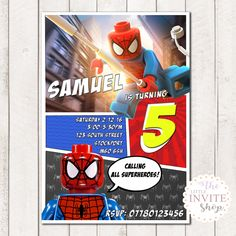 A personal favourite from my Etsy shop https://www.etsy.com/uk/listing/485872152/lego-superhero-marvel-dc-comic-printable