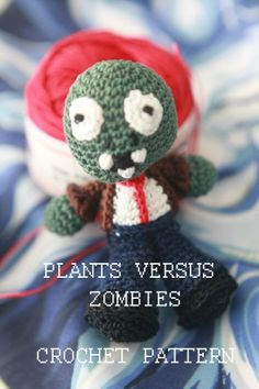 Plants versus Zombies Zombie CROCHET PATTERN | deadcraft - Dolls & Miniatures on ArtFire