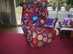 Hexagon quilt  by anitasiep, via Flickr