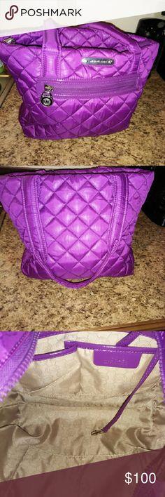 Purple Michael Kors Quilted Handbag This is a beautiful purple bag. In EUC Michael Kors Bags Shoulder Bags