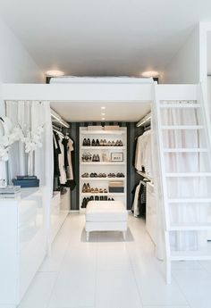 Small Space Living | Raised Platform Bed | Dressing Room