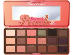 Too Faced Sweet Peach Eyeshadow Palette This Too Faced Sweet Peach Eyeshadow Palette is perfect for Summer! Two of the colors have only been used gently twice and the rest of the colors haven't even been touched! Too Faced Makeup Eyeshadow Skin Makeup, Eyeshadow Makeup, Beauty Makeup, Makeup Tips, Makeup Brushes, Makeup Ideas, Makeup Hacks, 2017 Makeup, Eye Brushes