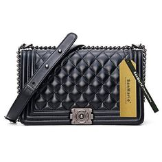 New Trending Clutch Bags: SanMario Designer Handbag Lambskin Classic Quilted Grained Flap Metal Chain Womens Crossbody Shoulder Bag Black 28cm/11. SanMario Designer Handbag Lambskin Classic Quilted Grained Flap Metal Chain Women's Crossbody Shoulder Bag Black 28cm/11″  Special Offer: $89.99  222 Reviews Offer: Factory Direct Sales: Better Quality with Cheaper Price. Condition: 100% Brand New and Luxury Quality. Outer...