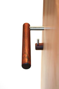 Natural collection door lever in cocobolo by Tantalus Design