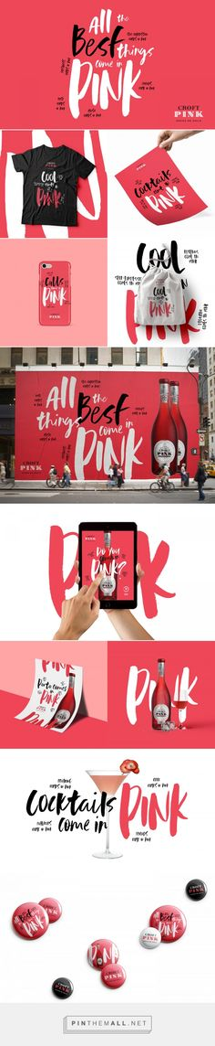 Croft Pink Beverage Branding by Volta | Fivestar Branding Agency – Design and Branding Agency & Curated Inspiration Gallery