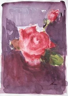 Original Floral Painting by Dumitru Bostan Junior Watercolor Rose, Watercolor Paintings, Original Paintings, Floral Paintings, Watercolors, Painting The Roses Red, Floral Style, Rose Buds, Impressionism