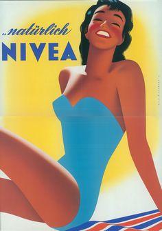 NIVEA Retroanzeige - 1954. #nivea #retro