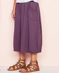 Pima Cotton Midi Skirt - Girls