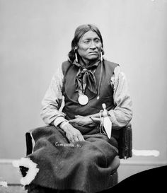 An American Indians called Chewing Elk of the Comanche Nation Native American Cherokee, Native American Pictures, Native American Tribes, Native American History, Native Americans, Oklahoma, Kansas, Comanche Warrior, Comanche Tribe