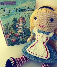 FREE--I based this free amigurumi pattern on John Tenniel's iconic illustrations of Alice — especially the one that appears the cover of my own childhood copy of the book. I especially love the red and white striped tights. On my blog, you can download a printable PDF of the pattern that includes closeup photos.