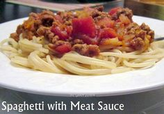 Pasta with Meat Sauce...you might feel you've been transported to Tuscany! #Recipe #pasta