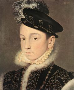 François Clouet, Portrait of King Charles IX of France, 1561, Oil on wood, 25 x 21 cm, Kunsthistorisches Museum, Vienna
