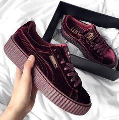 64959a7aa04 shoes sneaker sneakers kicks sole puma puma by rihanna rihanna suede creeper  creeper fashion style streetwear sporty sportswear womenswear women fashion  ...