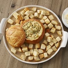 Bread Bowl with Kale & Artichoke Dip  - The Pampered Chef®