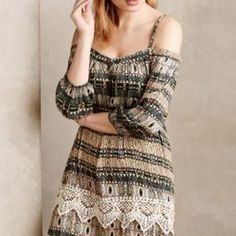 Ilia Dress by Gypsy05 Green Motif