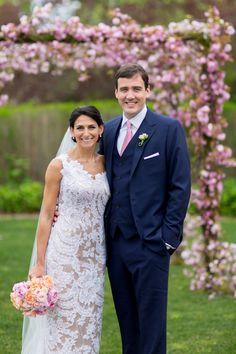 garden wedding at Inn at Windmill Lane, Amagansett, New York, with photos by Jonathan Young Weddings   via junebugweddings.com