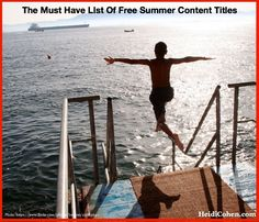 The Must Have List of Free Summer Content Titles - Heidi Cohen Reiki, Positivity Blog, Substitute Teacher, The Better Man Project, Free Summer, Safe Place, Self Confidence, To Tell, Our Life