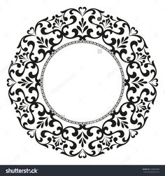 Decorative line art frames for design template. Elegant element for design in Eastern style, place for text. Black outline floral border. Lace illustration for invitations and greeting cards.