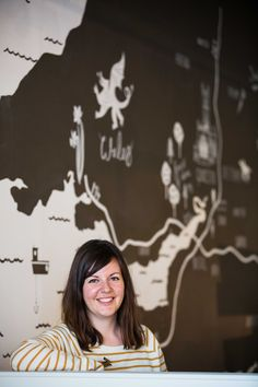 Stephanie Cole, talented artist and designer who designed our farmshop map.