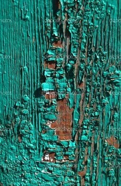 Background of green, peeling paint on an old wall Teal Green Color, Teal Paint, Peeling Paint, Teal Walls, Old Wall, Origami Design, Photo Backgrounds, Textures Patterns, Cool Pictures