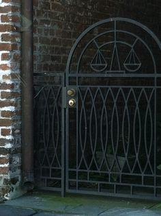 Tour of downtown Charleston gates, Charleston, South Carolina.
