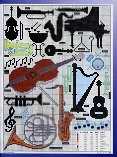 Schema punto croce Musica 2