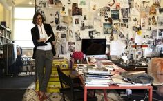 Jenna Lyons in J-Crew Office. Yeah, now this looks more like my office.sans the guitar and amps. Home Office, Office Decor, Office Ideas, Office Style, Office Chic, Office Themes, Corner Office, Desk Ideas, Room Ideas