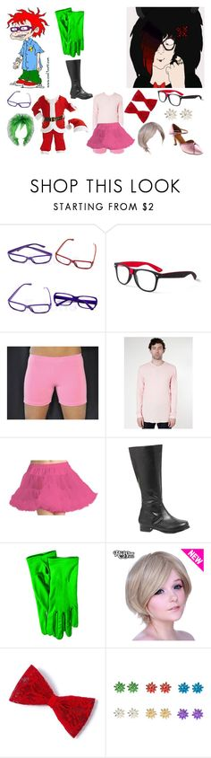 """""""Dancing with the Stars (Christmas Night/Finale)- Chuckie/Mars"""" by brainyxbat ❤ liked on Polyvore featuring claire's, INC International Concepts and American Apparel"""