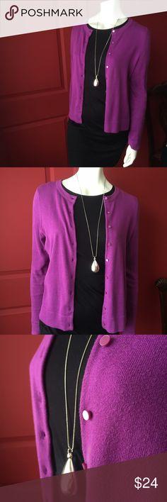 Cotton cardigan Simple, classic, rich jewel colour Sweaters