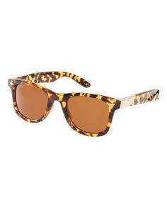 Jeepers Peepers | Jeepers Peepers Winston Tortoise Shell Wayfarer Sunglasses at ASOS