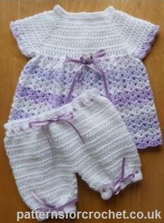Baby angel top  pants set free crochet pattern from http://www.patternsforcrochet.co.uk/baby-angel-top-pants-usa.html #patternsforcrochet #freebabycrochetpatterns