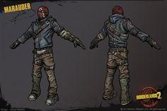 borderlands 2 concept art | bandit borderlands 2 marauder bandit created for borderlands 2 concept ...
