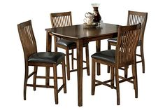 Our dinette set ... Chairs are so comfy! :) 24 inch chair height