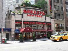 https://flic.kr/p/94XD8X | Shelly's, W57th St, NYC | Former Horn & Hardart Automat at 104 W57th ST, New York City. It was Shelly's Restaurant when I photographed it in 2005 but was demolished in 2006.