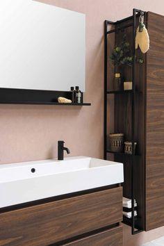 Bathroom Mirror Design, Bathroom Inspo, Bathroom Layout, Bathroom Inspiration, Master Bathroom, Industrial Interior Design, Interior Styling, Natural Interior, Bath Decor