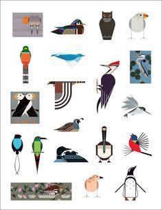 Here's my new favourite artist: Charley Harper (1922-2007) was a Cincinnati based artist, producing amazing prints, posters and book illu...