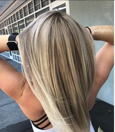 Blond straight hair
