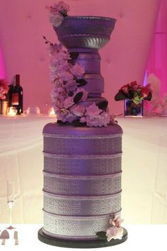 stanley cup wedding cake 8 months pregnant and made this huge life sized stanely cup wedding cake for our friends wedding on saturday