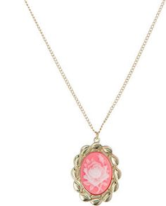 And Mary Floral Cameo Necklace