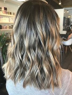 Contrasting Color Ideas for Lob Wavy Hairstyles 2018
