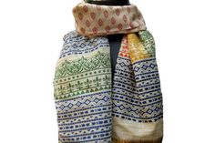 Hand printed scarf/ multicolored scarf/ cotton silk scarf/  floral motifs scarf/handloom scarf/ gift scarf / gift ideas. by vibrantscarves on Etsy