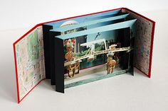 Tunnel Book: The tunnel book is an accordion of multiple panels bound on both sides and viewed from the front, giving a 3D effect. Students will learn basic bookmaking techniques in order to make their own amazing tunnel book out of postcards, photos, pictures, rubber-stamping.