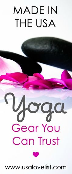 American made yoga gear you can trust.