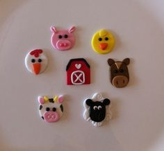 Farm Animals Edible Cupcake Toppers - by SugarandSpiceCupcakes on madeit