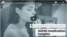 5-minute overview - Parenting ADHD & Autism With Parenting Coach, Penny Williams Adhd And Autism, Autism Parenting, Adhd Kids, Kids And Parenting, Parenting Hacks, Adhd Diagnosis, Adhd Medication, Parent Coaching, Adhd Symptoms