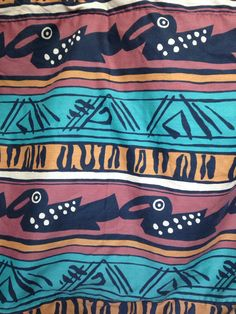 Vintage Tribal African Pillowcase Shams 90s by twinflamesboutique
