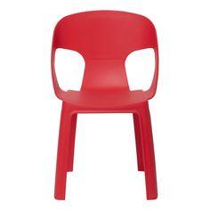 Práctica y apilable silla infantil de resina. Muy útil para la terraza y el jardín, ya que además resiste los rayos ultravioleta.